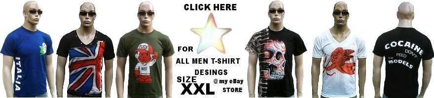 MEN'S T-SHIRT SIZE XXL 3X & 4X &